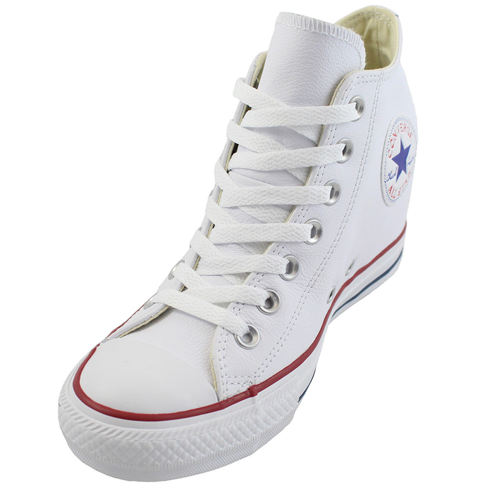 rough City flower Weird  Converse Womens Chuck Taylor All Star Lux Leather Shoe