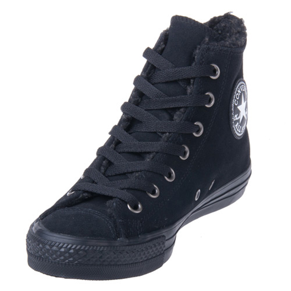 f58bc632d67f Converse Chuck Taylor 125596CA Leather Black Black Hi Top
