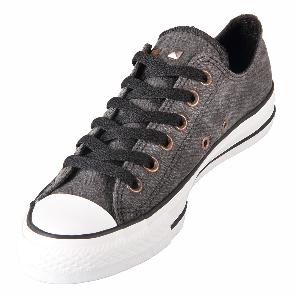 Converse Chuck Taylor 139763C Heel Stud Ox Black Shoes.