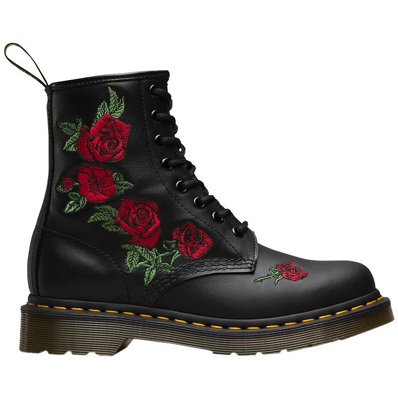dr martens embroidered roses