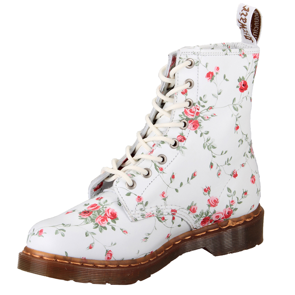 Dr martens r11821111 8 eyelet 1460w white victorian flower dr martens 8 eyelet 1460 victorian flower boot mightylinksfo Image collections