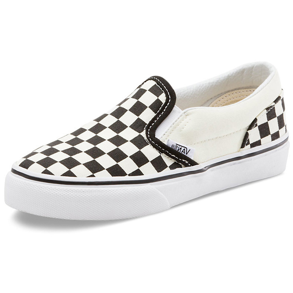 d19ef07e70 Vans VN-0LYGCK2 Youth Classic Slip On Black True White Checker Shoes ...