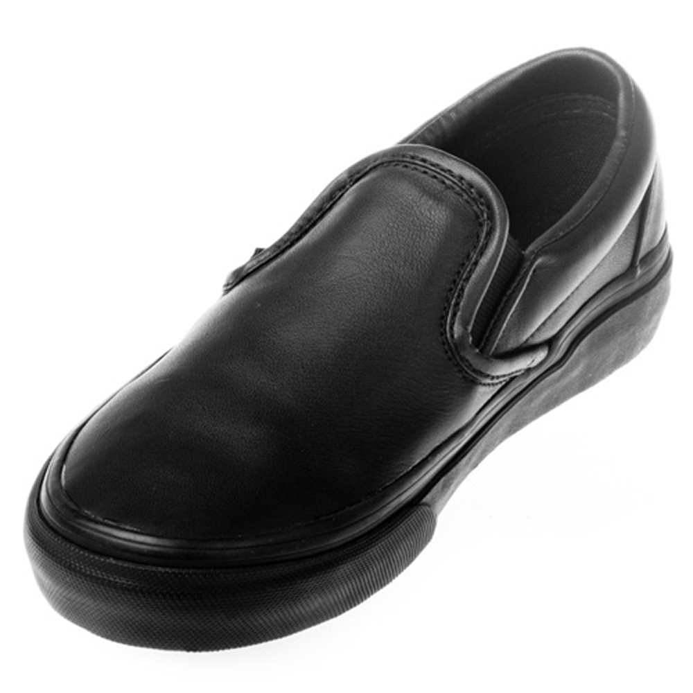 2667481862 Vans VN-0LYFL9M Classic Slip-On Italian Leather Black Black