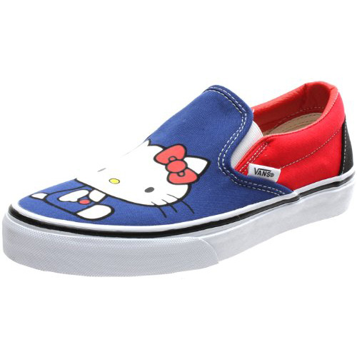 15730b958d Vans VN-0QFD66X Classic Slip on Hello Kitty Azalea Pink True White.