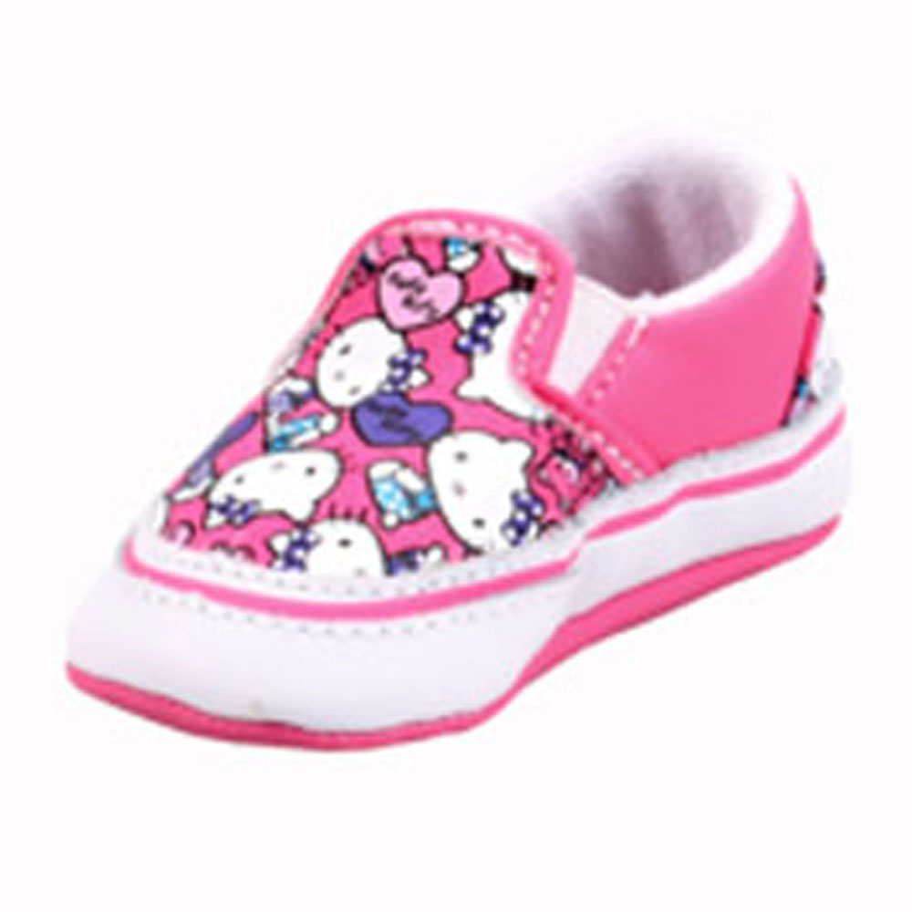 Vans VN-0KWK66X Infant Classic Slip-on Hello Kitty Azalea Pink  Red. 667a9c4eb
