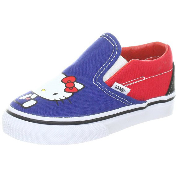 989da9c717 Vans VN-0QFB66Z Youth Classic Slip-on Hello Kitty Black Red.
