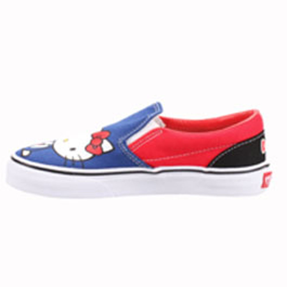 Vans VN-0QFB66Z Youth Classic Slip-on Hello Kitty Black Red. e9e72b537