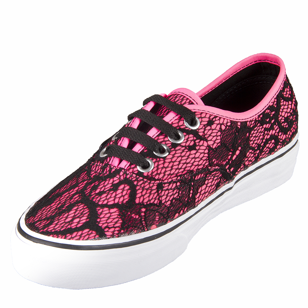 Vans VN-0TSV8NU U Authentic   Lace Neon Pink Shoes. 9e3c4d26e6b1