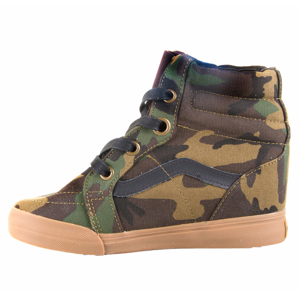 Free Shipping To Canada Camo Wedge Shoes