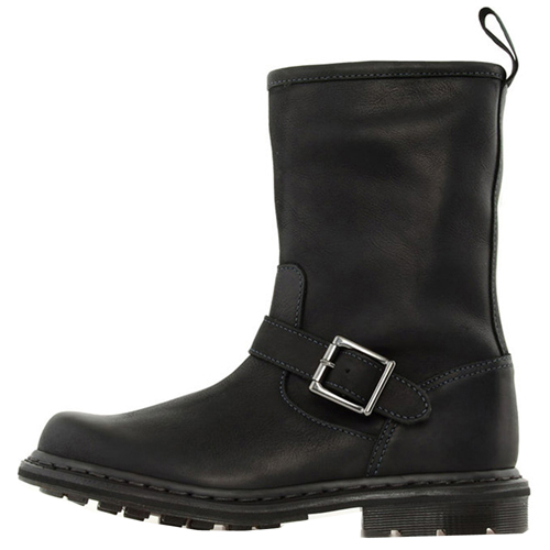 Dr. Martens Zip Rig Aztec Darkened Crazy Horse Buckle Boot