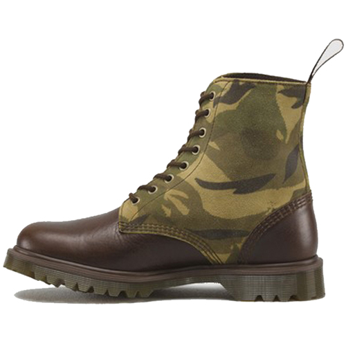 Dr. Martens 8 Tie Inuck British Large Camo Boot