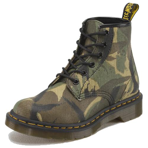 Dr. Martens 6 Eye Boot Camo Waxy Boot