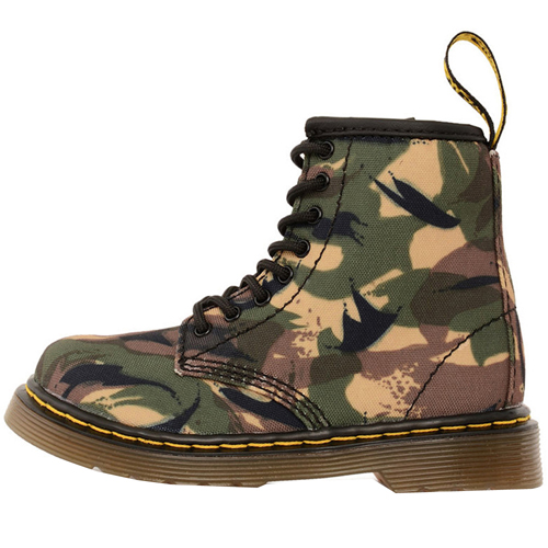 Dr. Martens Brooklee Small British Camo T Canvas Boot
