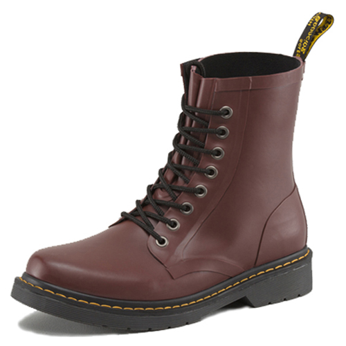 Dr. Martens Matt Cherry Vulcanised Rubber 8 Eye Boot