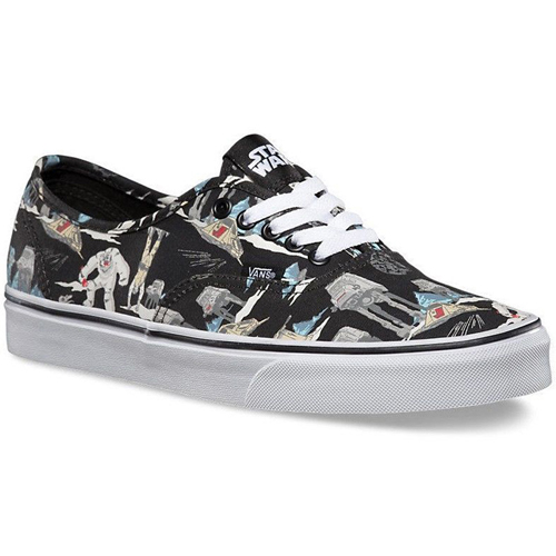 e7d5a6258f Vans VN-0YS7EXA U Authentic (Star Wars) Dark Side Planet Hoth Shoe ...
