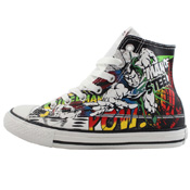 Converse Youth Chuck Taylor DC Comics Canvas Print Batman Shoe
