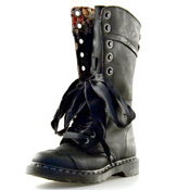 Dr. Martens 14 Eye Boot (Victorian Floral Lining) Polished Wyoming